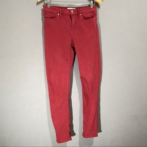 Lucky Brand maroon skinny jeans size 6